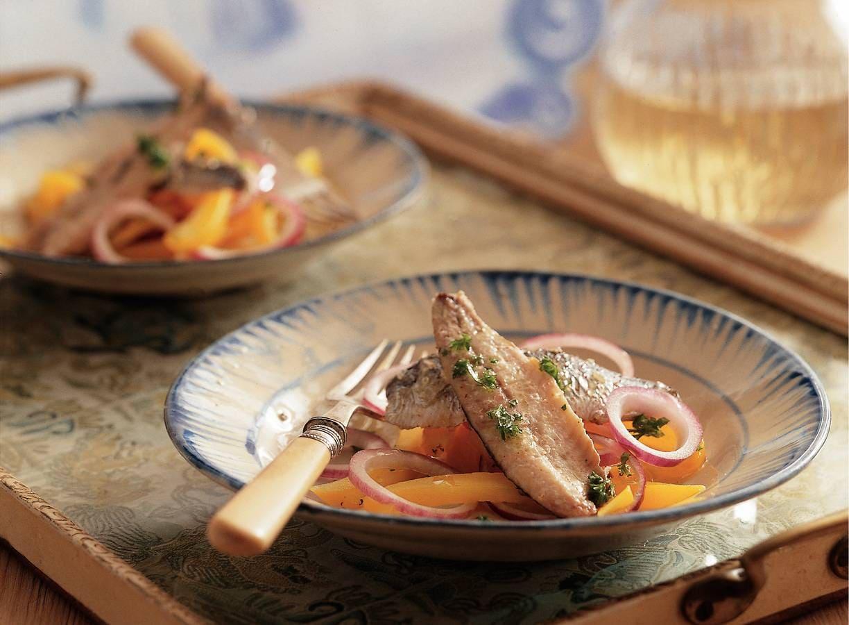 Gegrilde sardines met paprika