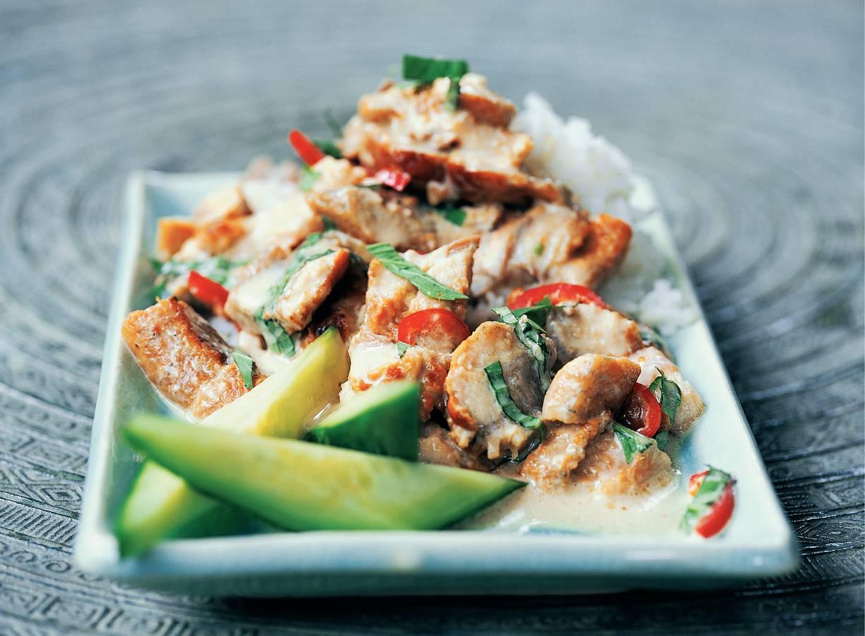 Groene curry van makreel