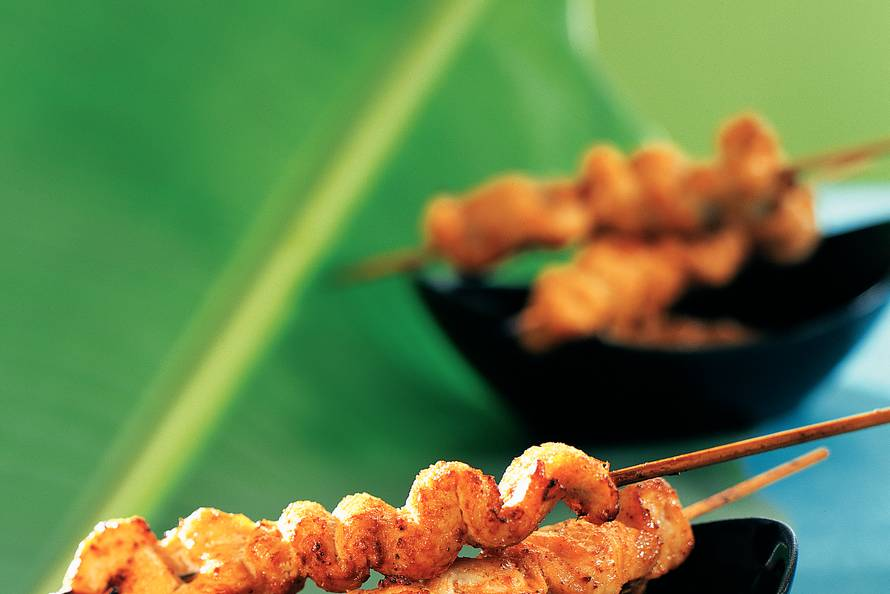 Kipsaté met Thaise pindasaus