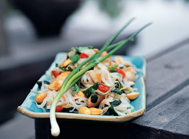 Gebakken mihoen met kip en groenten
