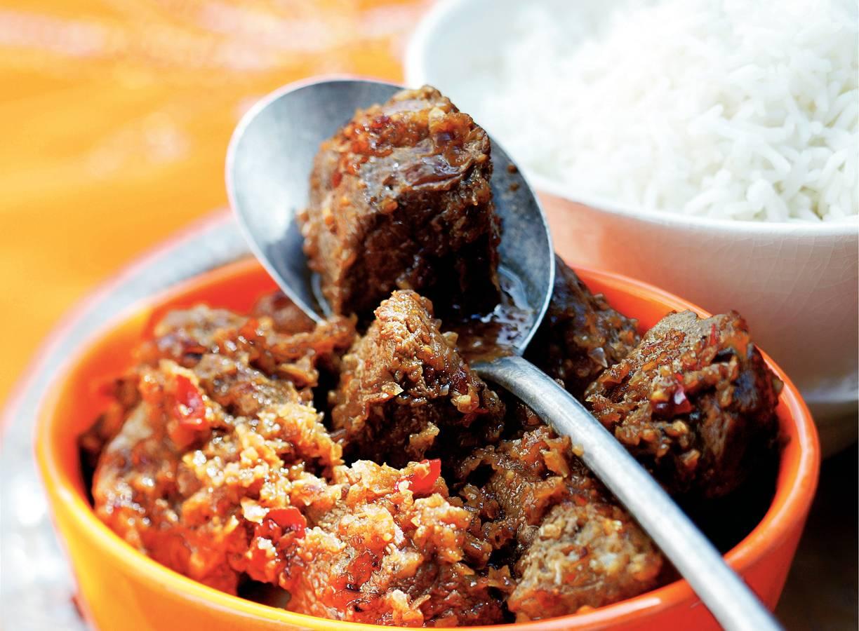 Zoetzure curry met eend