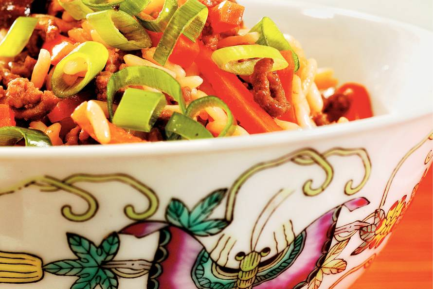 recept rijst gehakt groenten