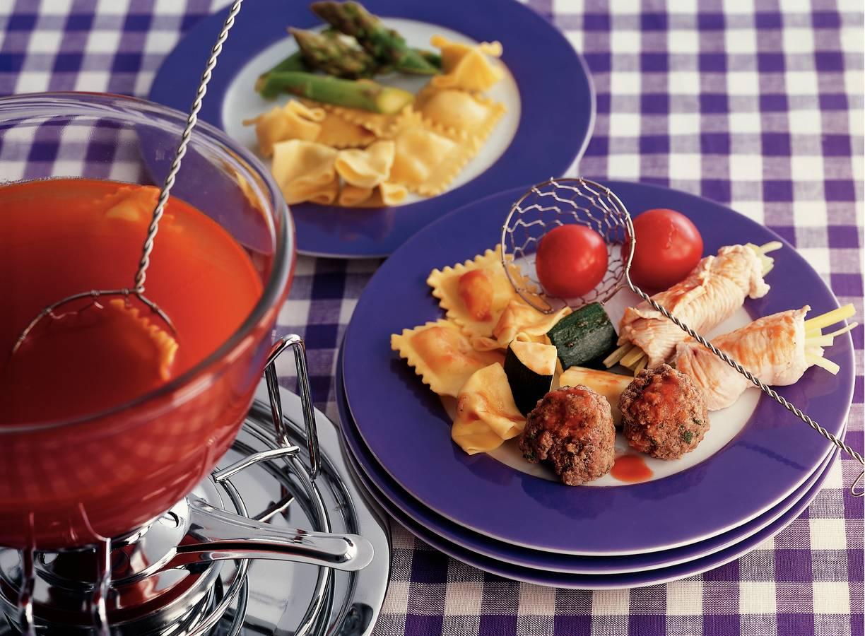Italiaanse tomatenfondue met witte wijn