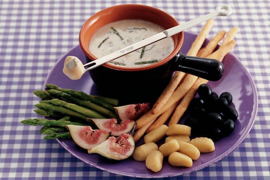 Gorgonzolafondue met mascarpone