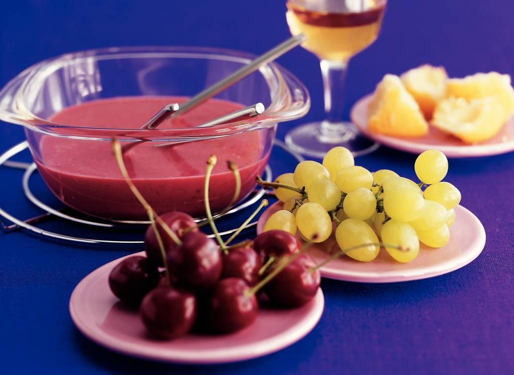 Marshmallow-fruitfondue met mascarpone - Albert Heijn