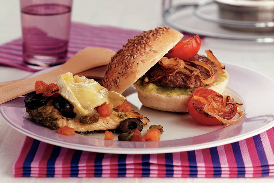 Minihamburgers met guacamole