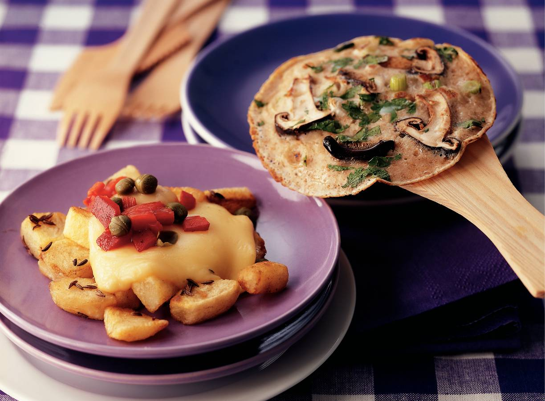 Aardappelblokjes met abdijkaas