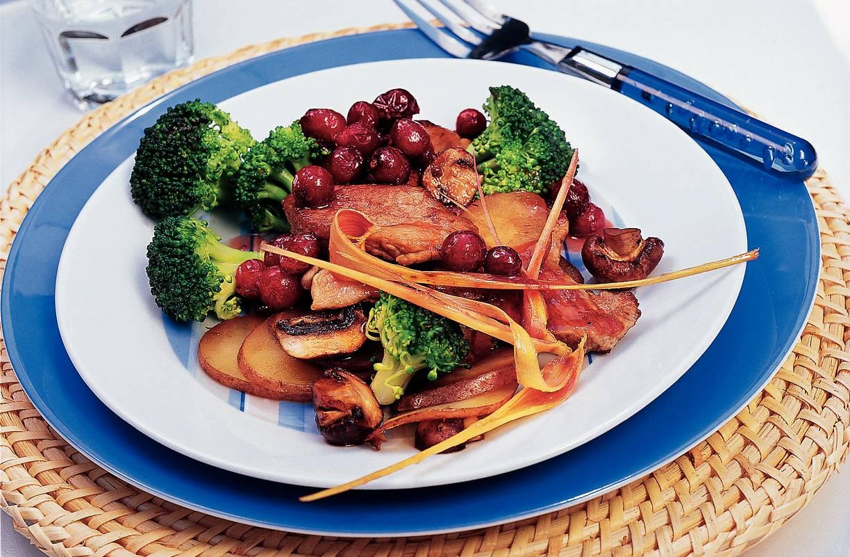 Varkensfilet met cranberrysaus
