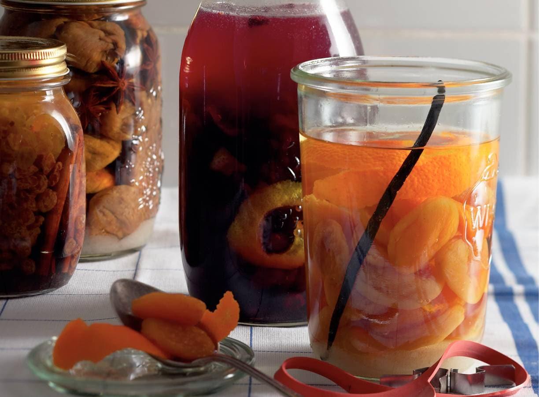Rode vruchten op brandewijn