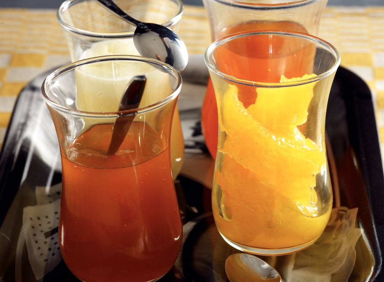 Proeverij van citrusfruit