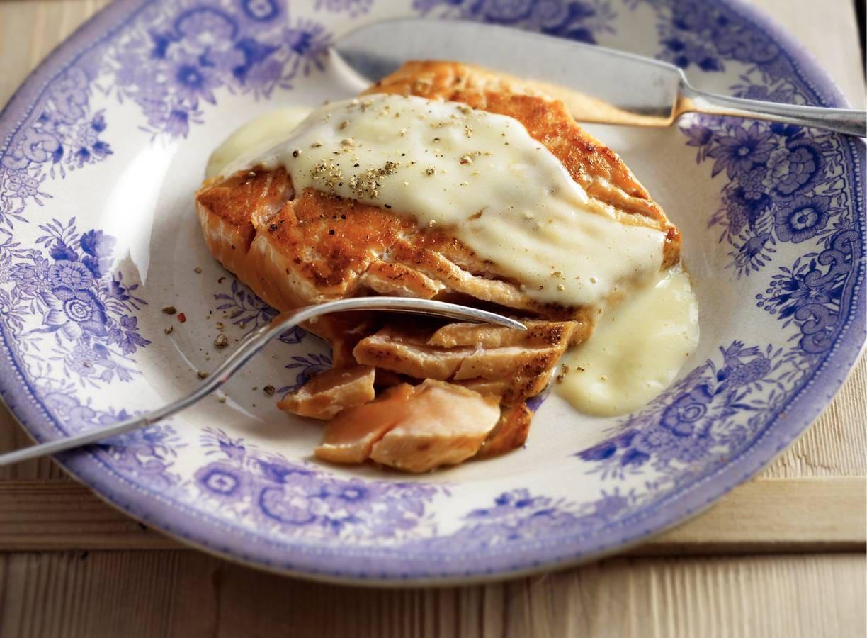 Zalmfilet met beurre blanc