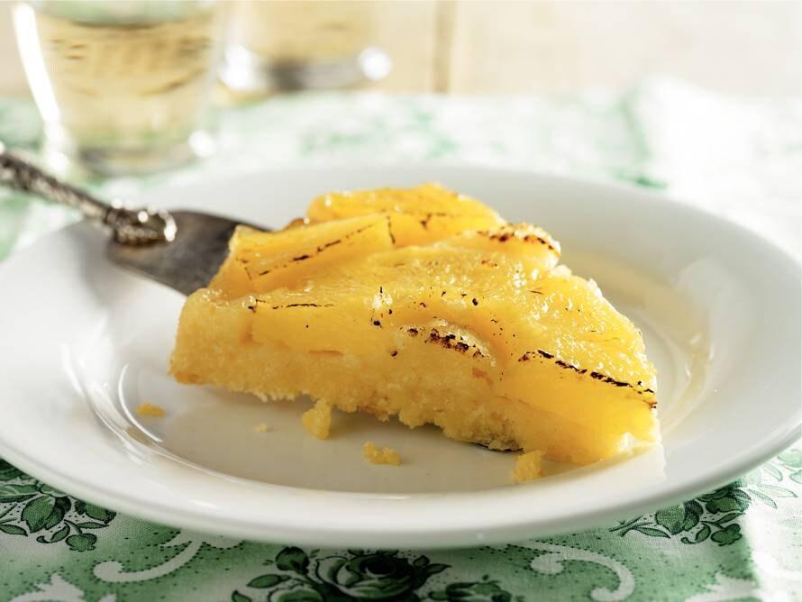 Omgekeerde ananastaart met kokos