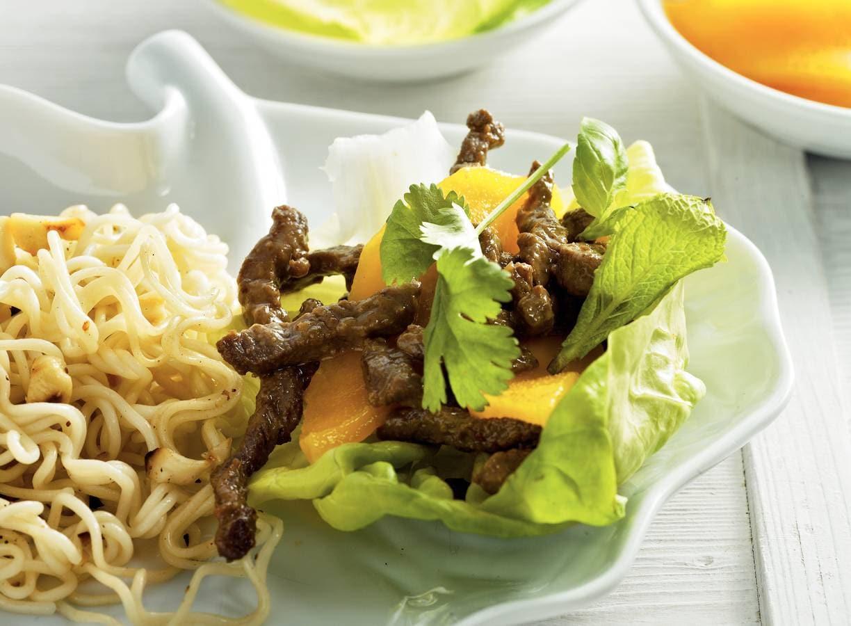 Slawraps met Thais rundvlees