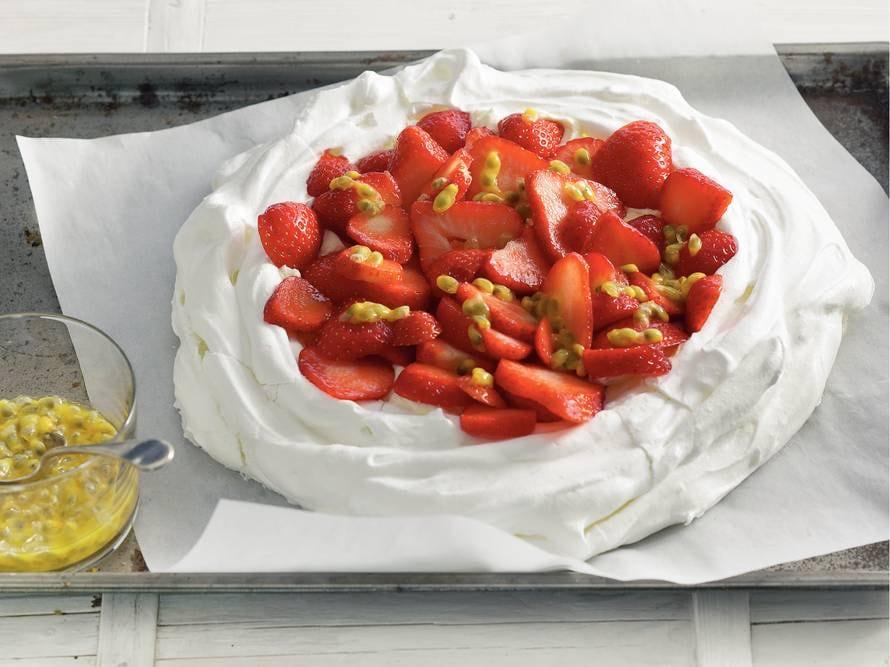 Pavlova met aardbeien