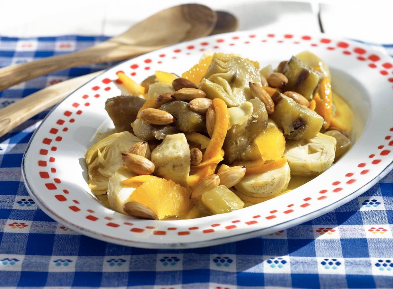 Salade van artisjok met honing