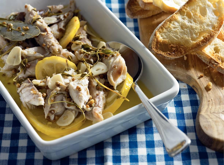 Makreel in witte-wijnmarinade