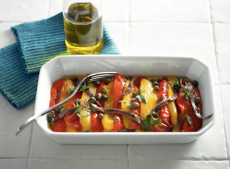 Salade van geroosterde paprika