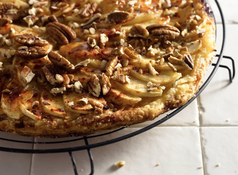 Crunchy appel-notentaart