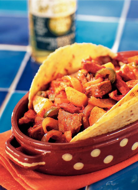 Varkensstoofpotje met chorizo en peper