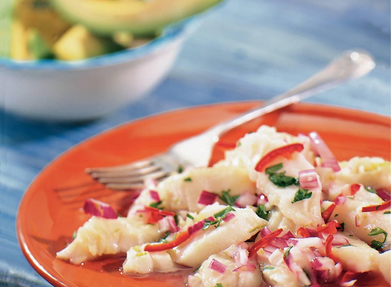 In limoensap gegaarde vis