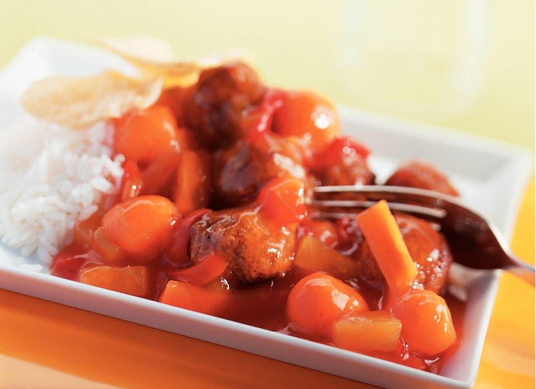 Vegetarische babi pangang met worteltjes