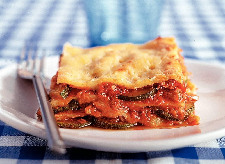 Lasagne met tonijn en courgette