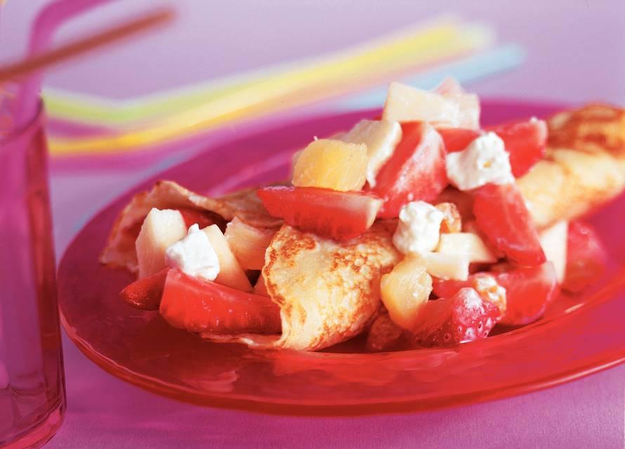 Romige fruitpannenkoeken