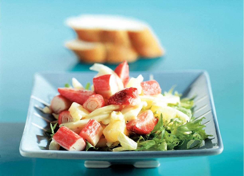 Frisse salade met surimi