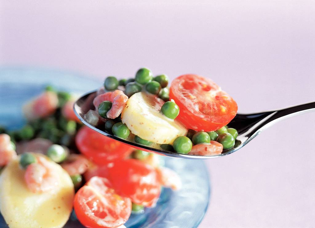 Aardappelsalade met garnalen - Albert Heijn