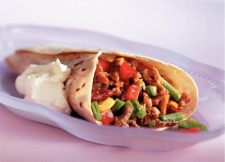 Mexicaanse wrap-tortilla