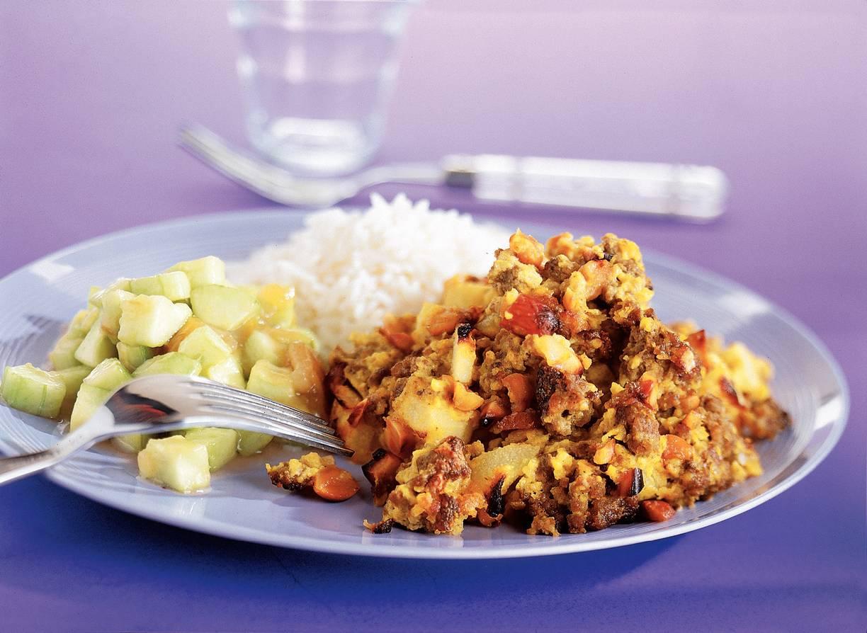 Gehaktschotel met rijst