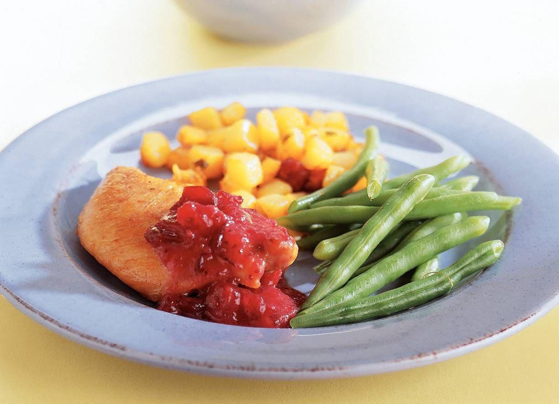 Kalkoenfilet met cranberrysaus