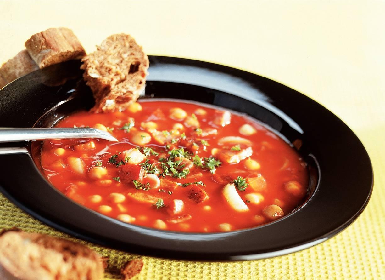 Tomatensoep met kikkererwten