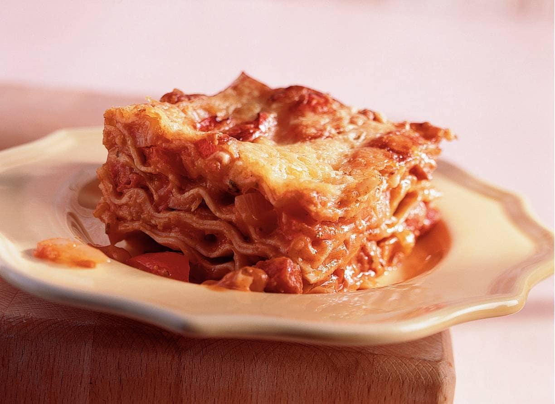 Pittige lasagne met chorizo