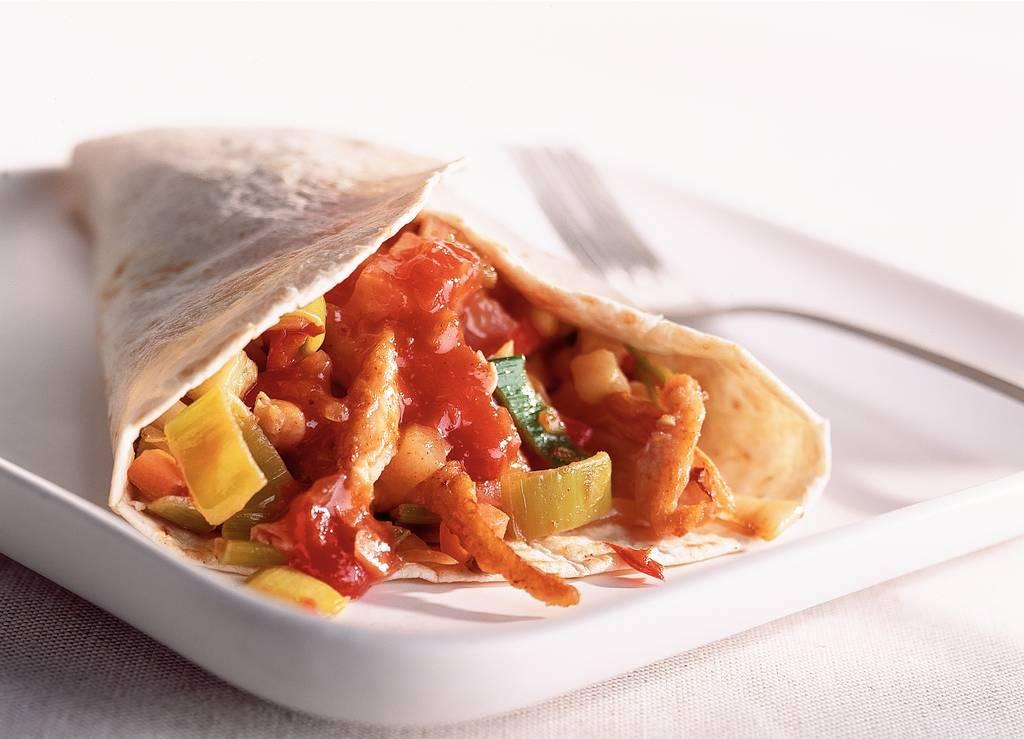 Wrap met kip, salsa en ananas - Albert Heijn