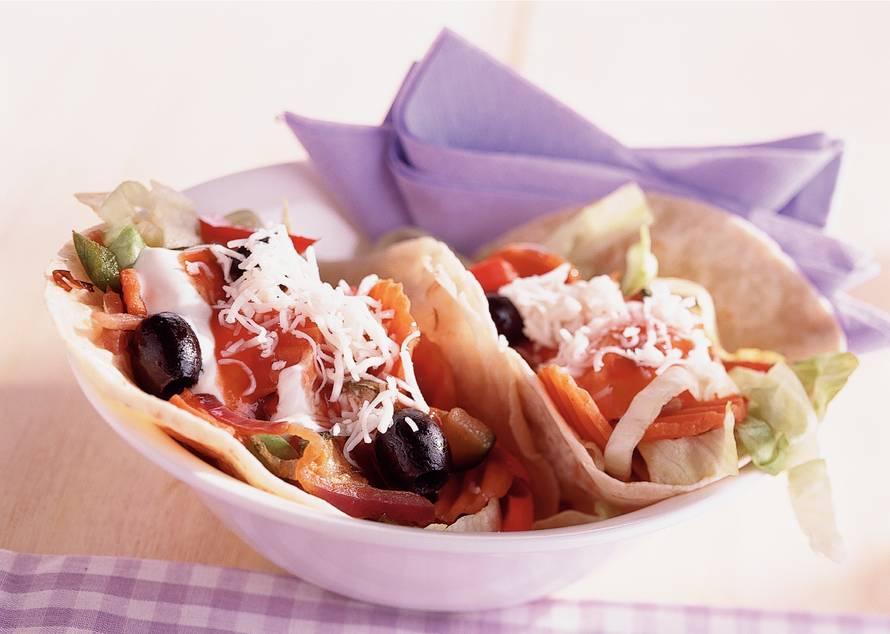 Taco's met geitenkaas