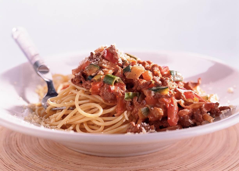 Spaghetti met romige pestosaus