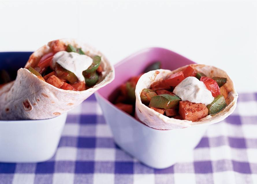 Burrito's met kipvulling