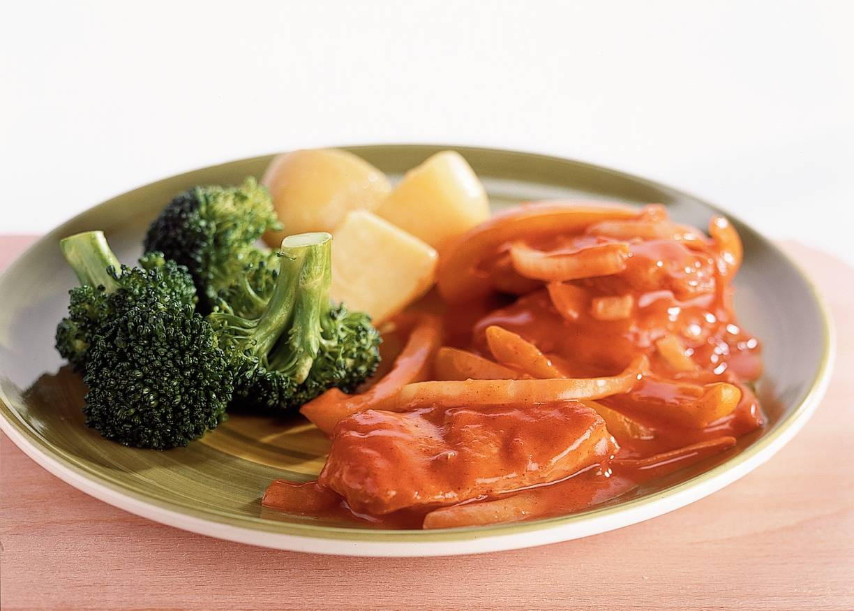 Kalkoenstroganoff met broccoli