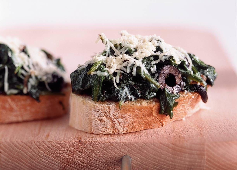 Bruschetta met spinazie