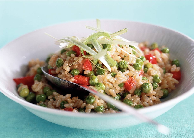 Groene risotto met pesto
