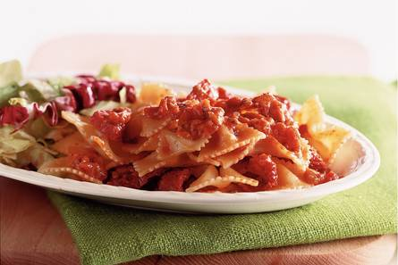 salami pasta recept