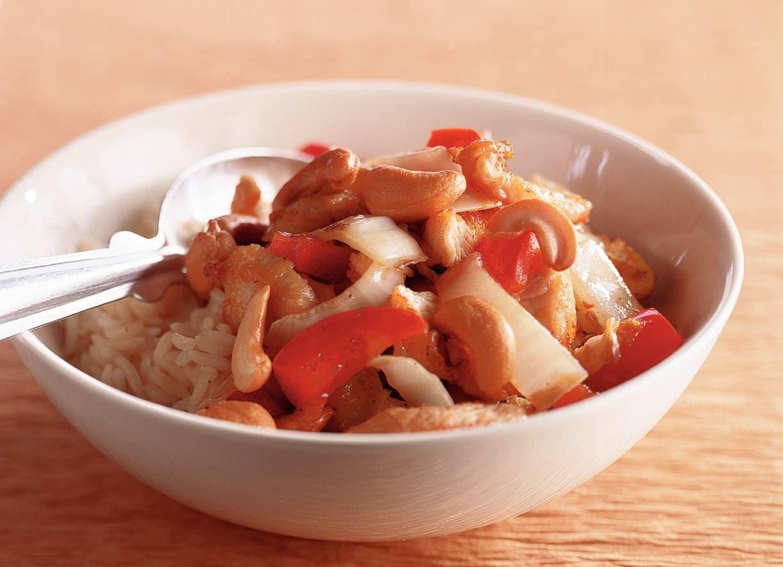 Kruidige kalkoen met rijst