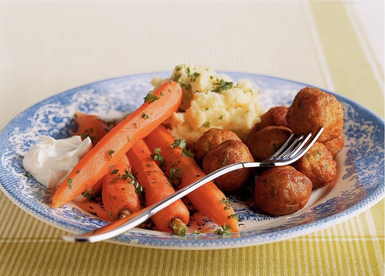 Groenteballetjes met zoete wortel