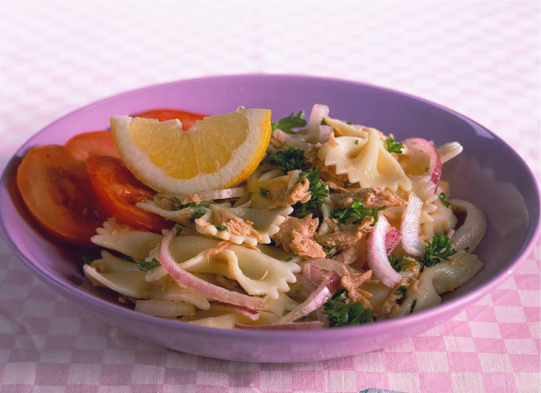 Lauwwarme tonijnsalade met citroen