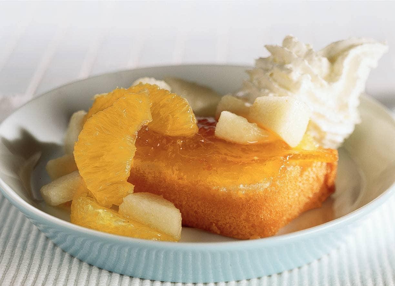 Cake met vers fruit