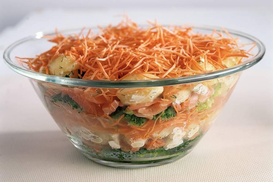 acht etages salade recept allerhande albert heijn. Black Bedroom Furniture Sets. Home Design Ideas