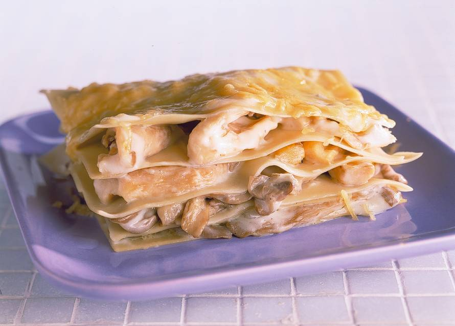 Lasagne met oesterzwammen