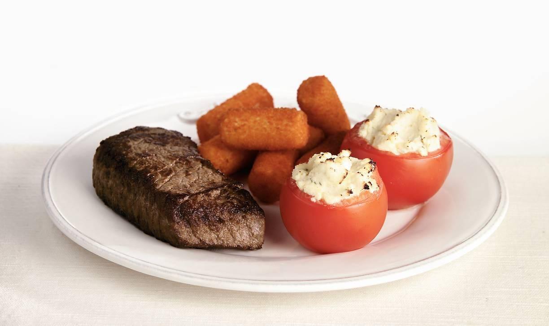 Biefstuk met roomkaastomaten