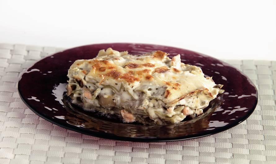 Lasagne met witlof en zalm